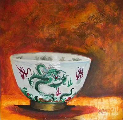 Tableware Painting - Old China by Jolanta Shiloni