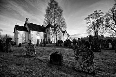 Art Print featuring the photograph Old Church At Drymen by Stephen Taylor