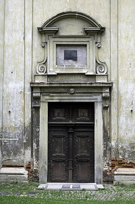 Medieval Temple Photograph - Old Church Door. by Fernando Barozza