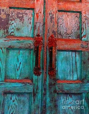 Photograph - Old Church Door Handles 1 by Becky Lupe