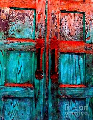 Photograph - Old Church Door Handles 2 by Becky Lupe