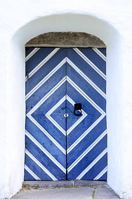Old Church Door In Blue Original