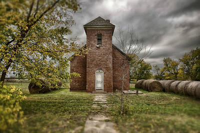 Old Church In Fall Art Print