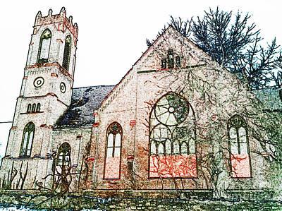 Old Church In Fresco Art Print