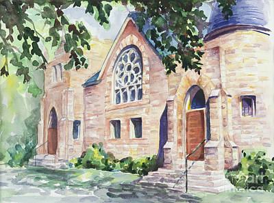 Old Church Print by Svetlana Howe