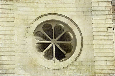 Old Church Window Art Print by Bonnie Bruno
