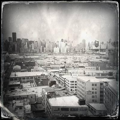 Old City 3 Art Print by H James Hoff