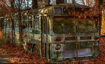Photograph - Old City Bus by Paul Herrmann