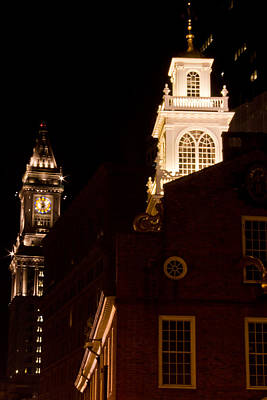 Old City Hall And Custom House Tower Art Print by John McGraw