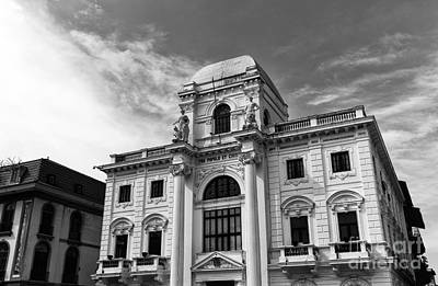 Photograph - Old City Hall Panama City Mono by John Rizzuto