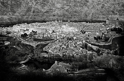 Jewish Heritage Photograph - Old City Of Toledo Bw by RicardMN Photography