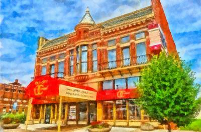 Old City Prime Restaurant Lima Ohio Art Print by Dan Sproul