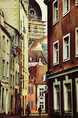 Old City Street Art Print by Gynt