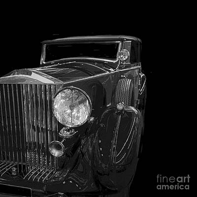 Photograph - Old Classic Car Square Poster by Edward Fielding