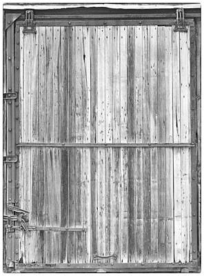 Photograph - Old Classic Colorado Railroad Car Door Bw by James BO  Insogna