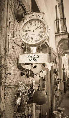 Icon Reproductions Photograph - Old Clock Paris 1889 by Cristian Mihaila