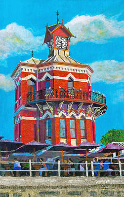 Old Clock Tower Art Print by Michael Durst