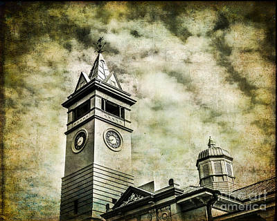 Old Clock Tower Art Print by Perry Webster