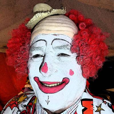 Photograph - Old Clown Backstage by Barbie Corbett-Newmin
