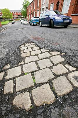 Cobbled Street Photograph - Old Cobbled Street by Ashley Cooper