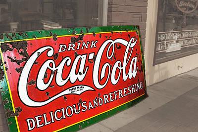 Old Coca Cola Sign Art Print
