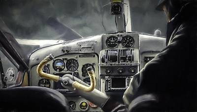 Old Cockpit Art Print by Barb Hauxwell