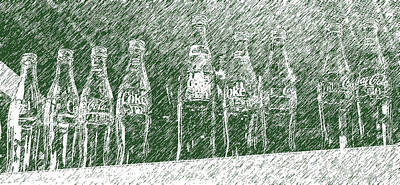 Art Print featuring the photograph Old Coke Bottles by Greg Reed