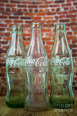 Old Cola Bottles Art Print