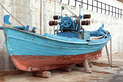 Recreational Boat Photograph - Old Colorful Fishing Boat Next To A by S-eyerkaufer