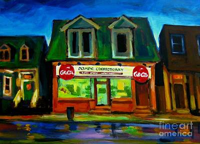 Old Confectionary Store Art Print