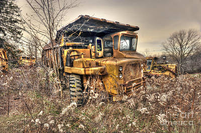 Photograph - Old Construction Truck by Dan Friend