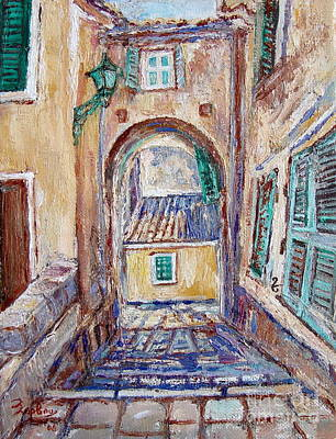 Corfu Painting - Old  Corfu Town by Xanthie Zervou