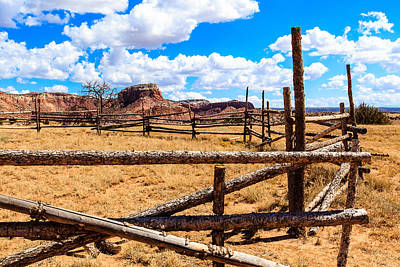 Photograph - Old Corral Ghost Ranch by Ben Graham