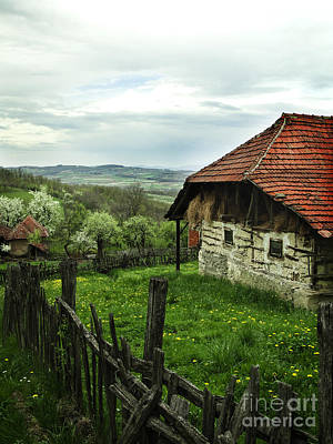 Spring Scenes Photograph - Old Cottage by Jelena Jovanovic