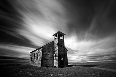 Photograph - Old Cottonwood Church In Black And White by Todd Klassy