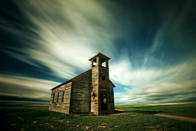 Schoolhouse Photograph - Old Cottonwood Church by Todd Klassy
