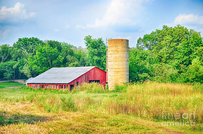 Photograph - Old Country Farm And Barn by Peggy Franz