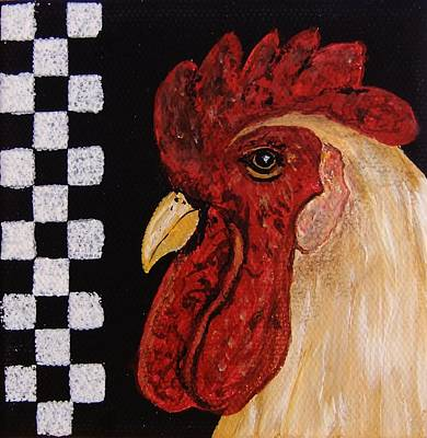 Painting - Old Country Rooster by Cindy Micklos