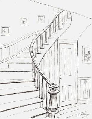 Drawing - Old Courthouse Stairs Number One by Stacy C Bottoms
