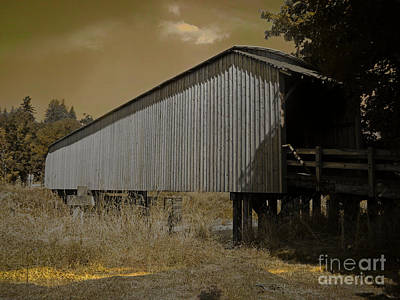 Covered Bridge Mixed Media - Old Covered Bridge  by Beverly Guilliams