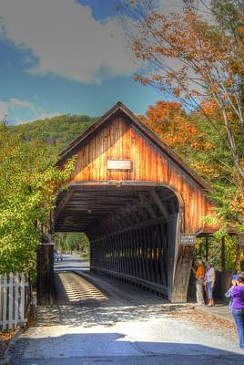 Photograph - Old Covered Bridge by Donald Williams