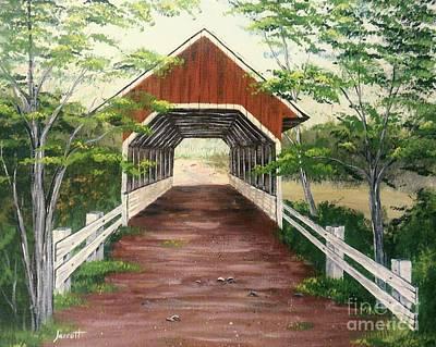 Covered Bridge Painting - Old Covered Bridge by K Alan Jarrett