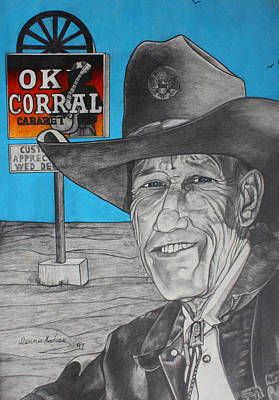 Cowboy Hat Mixed Media - Old Cowboy by Dennis Nadeau