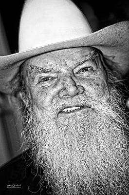 Photograph - Old Cowboy In Black And White by Andy Crawford