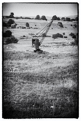 Photograph - Old Crane On Bonsall Lead Mine Workings by Bob Kemp