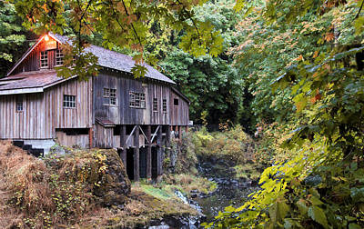 Photograph - Old Creek Grist Mill In Autumn by Athena Mckinzie