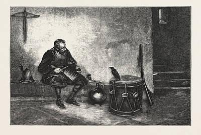 Old Cronies, Engraving 1876, Uk, Britain Art Print by Lucas, John Seymour (1849-1923), English