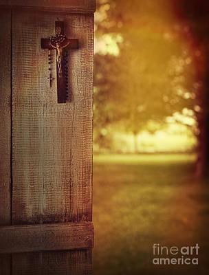 Photograph - Old Cross Of Window Shutter Door by Sandra Cunningham