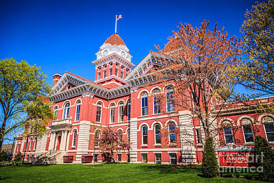 Court House Photograph - Old Crown Point Courthouse by Paul Velgos