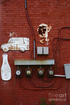 Old Dairy Wall 2 Art Print by James Brunker